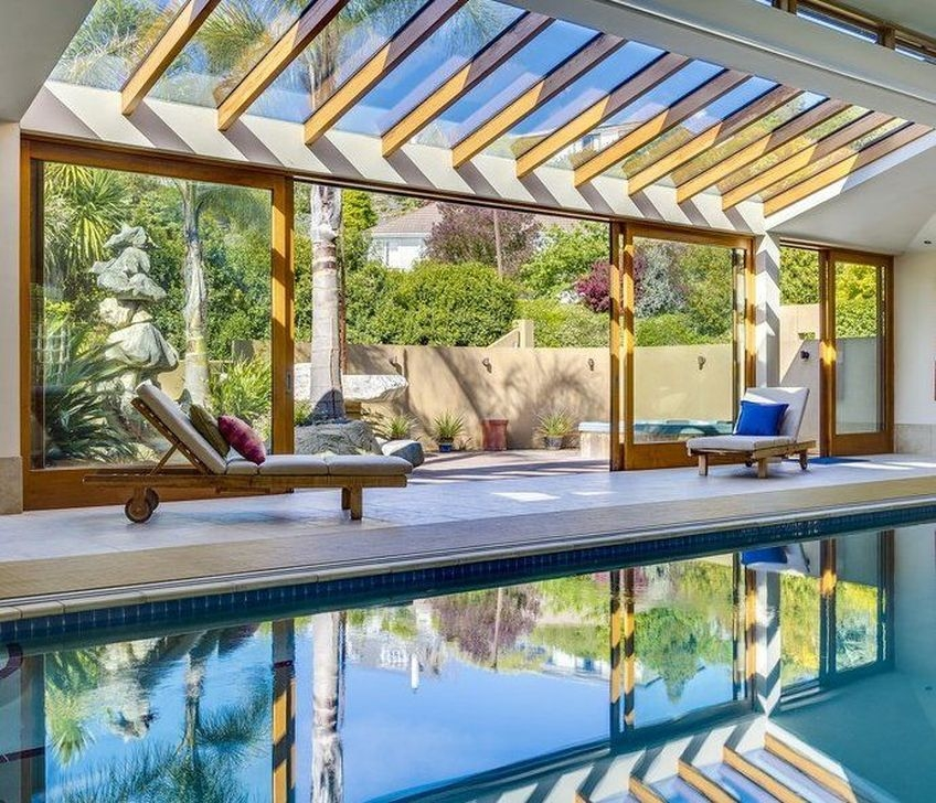 Comfy Backyard Designs Ideas With Swimming Pool Looks Cool 03