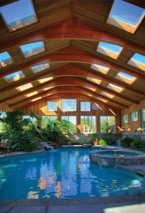 Comfy Backyard Designs Ideas With Swimming Pool Looks Cool 06