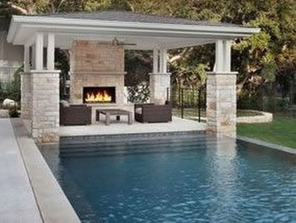 Comfy Backyard Designs Ideas With Swimming Pool Looks Cool 11