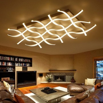 Cool Ceilings Lighting Design Ideas For Living Room To Try 41