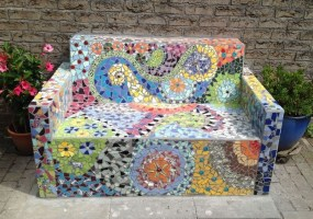 Enchanting Diy Mosaic Craft Ideas To Beautify Your Home Decoration 07