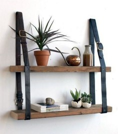 Fascinating Diy Wood And Leather Trellis Plant Ideas For Wall To Try 09