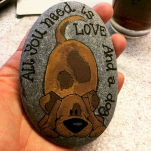 Splendid Diy Projects Painted Rocks Animals Dogs Ideas For Summer 37