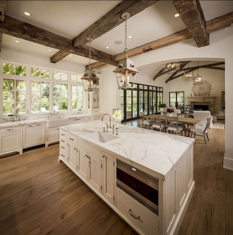 Stylish Farmhouse Kitchen Design Ideas To Bring Classic Look 29
