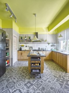 Splendid Kitchen Designs Ideas With Tones Of Vibrant Colors 24