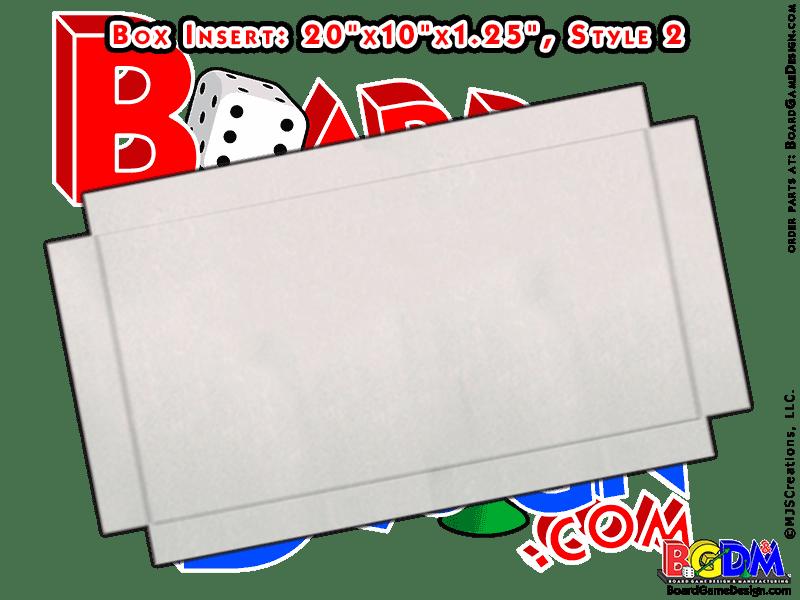 Box Insert for Bi-Fold Gameboard (Style 2)