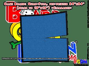 Game Board Blank 24 x 24 Quad-Fold