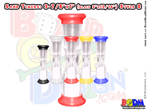 Sand Timers, Timers for Games, 15 seconds, 30 seconds, 60 seconds, 90 seconds, 120 seconds, 180 seconds,