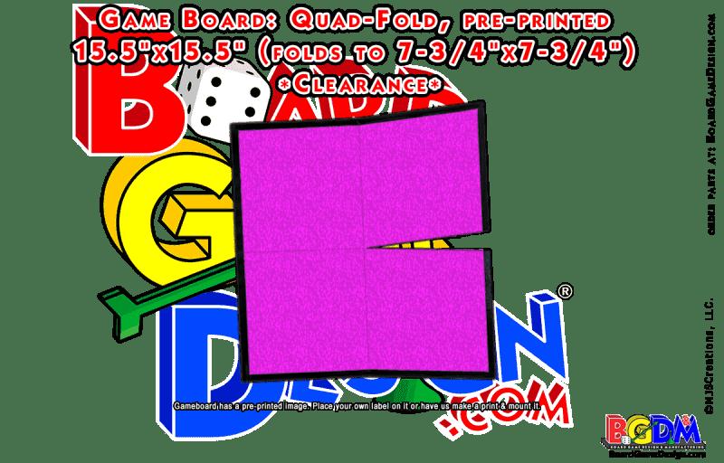 Game Board Blank 15.5 x 15.5 Quad-Fold