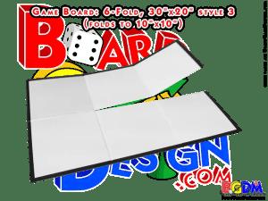 Blank Game Boards, Boardgame Blanks, 6 fold, six fold