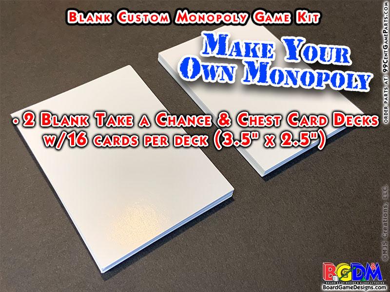 Blank Custom Monopoly Game Kit: Deed Cards