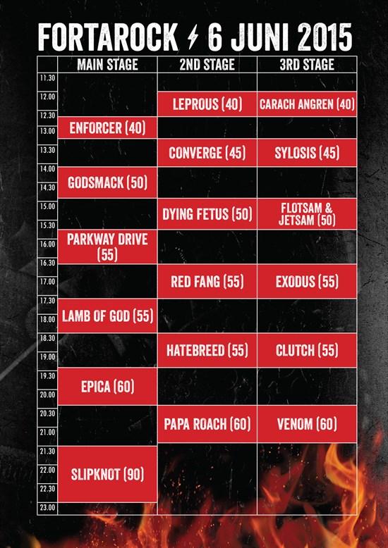 Timetable FortaRock 2015 online