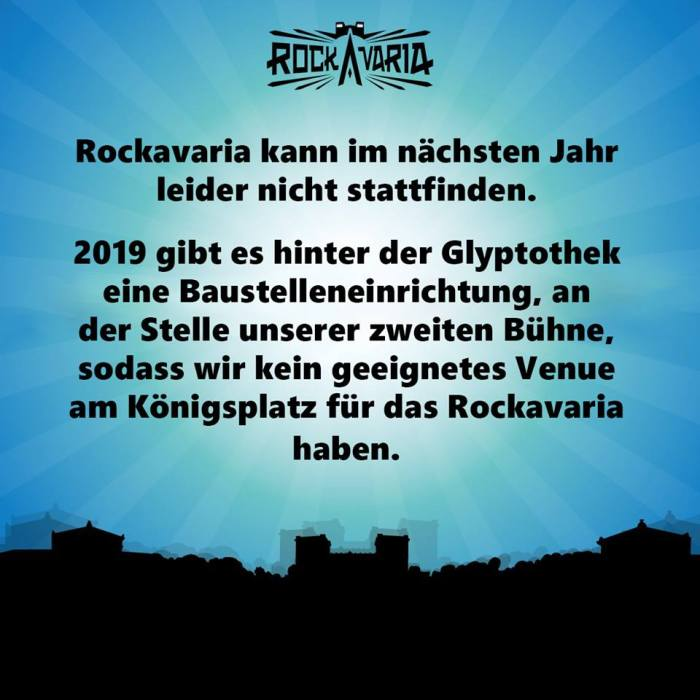 Geen Rockavaria in 2019