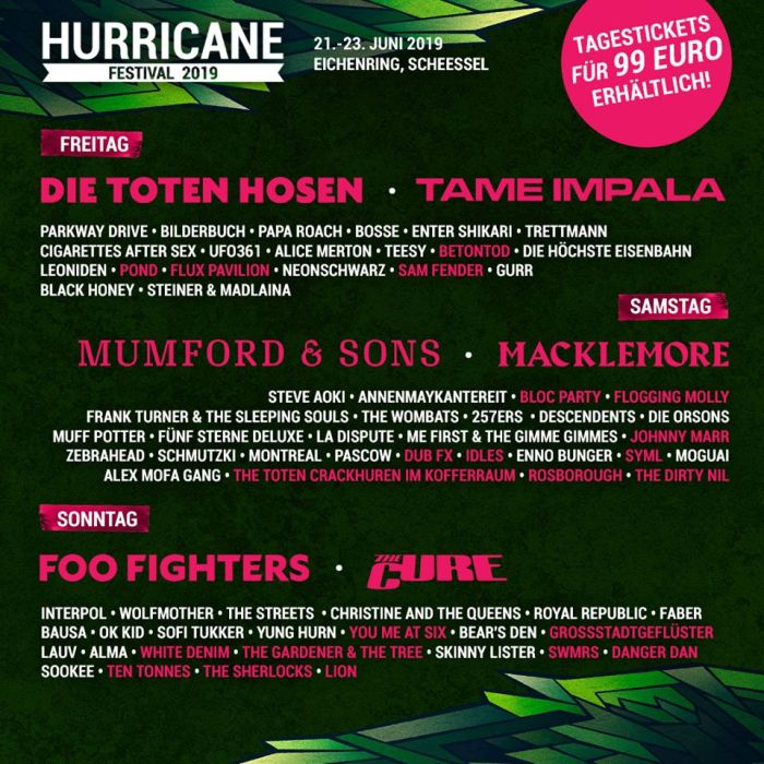 Hurricane & SouthSide 2019 Phase 3