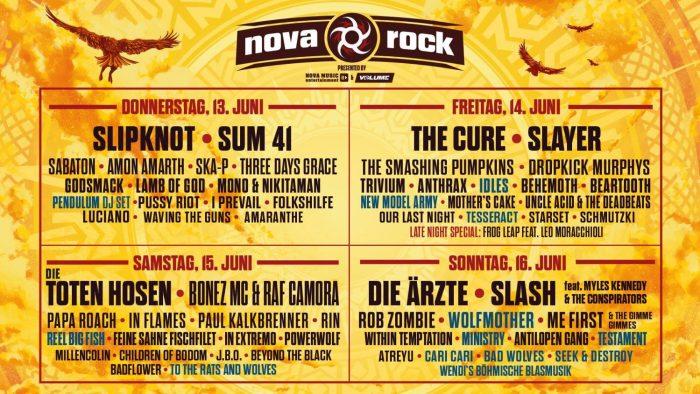 Derde lading namen voor Nova Rock 2019