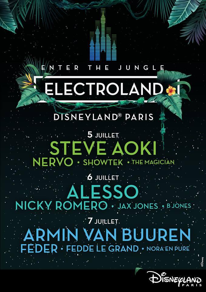 Disneyland presenteert eerste namen Electroland 2019