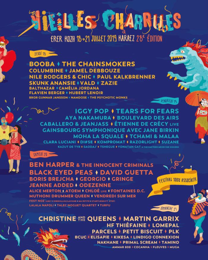 Festival Les Vieilles Charrues 2019 vervolledigt affiche