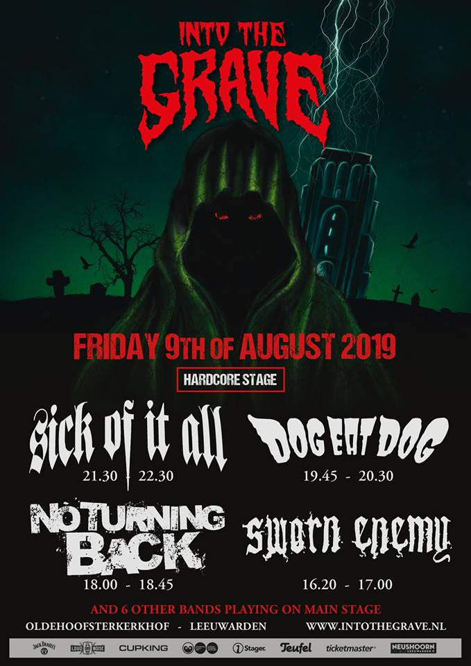 Sick Of It All en meer naar Into The Grave 2019