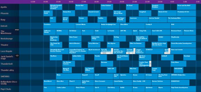 Paaspop 2019 presenteert timetable Zaterdag