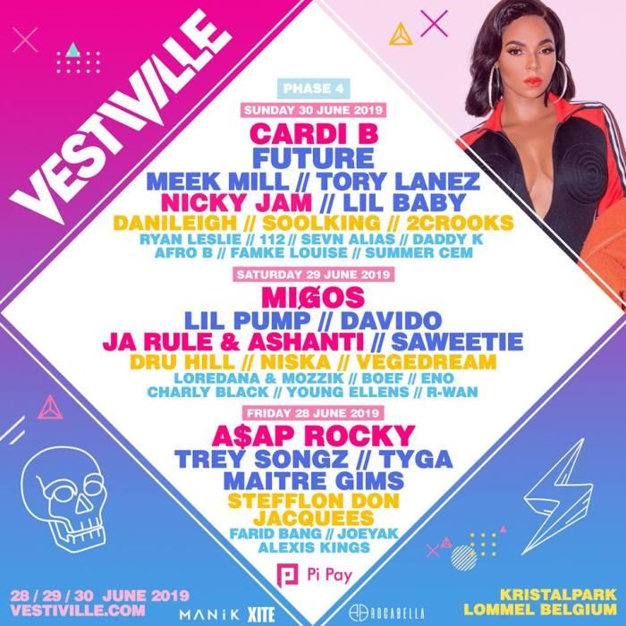 Ook Ja Rule, Ashanti en meer naar Vestiville
