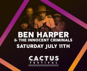 Ben Harper & The Innocent Criminals naar Cactusfestival 2020