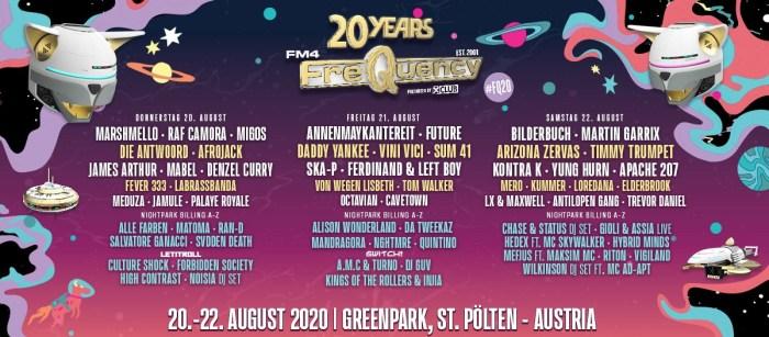 Fikse lading namen voor FM4 Frequency Festival 2020