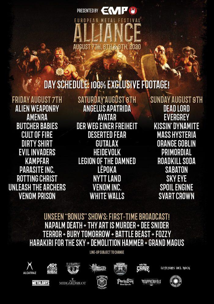European Metal Festival Alliance 2020 presenteert line-up