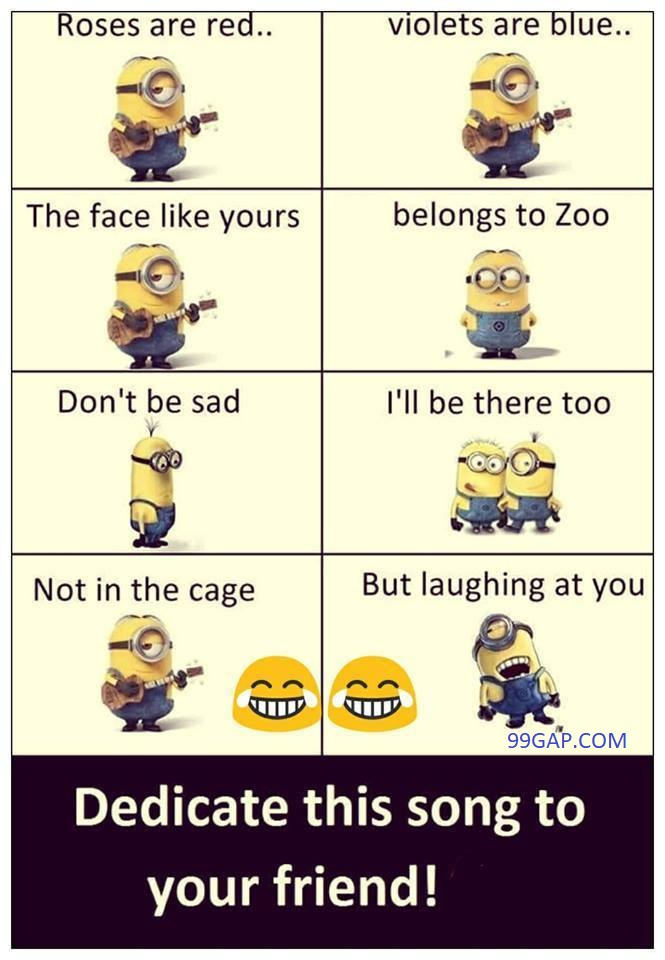 Funny Songs About Friends Vs Zoo By The Minions 99gap Com