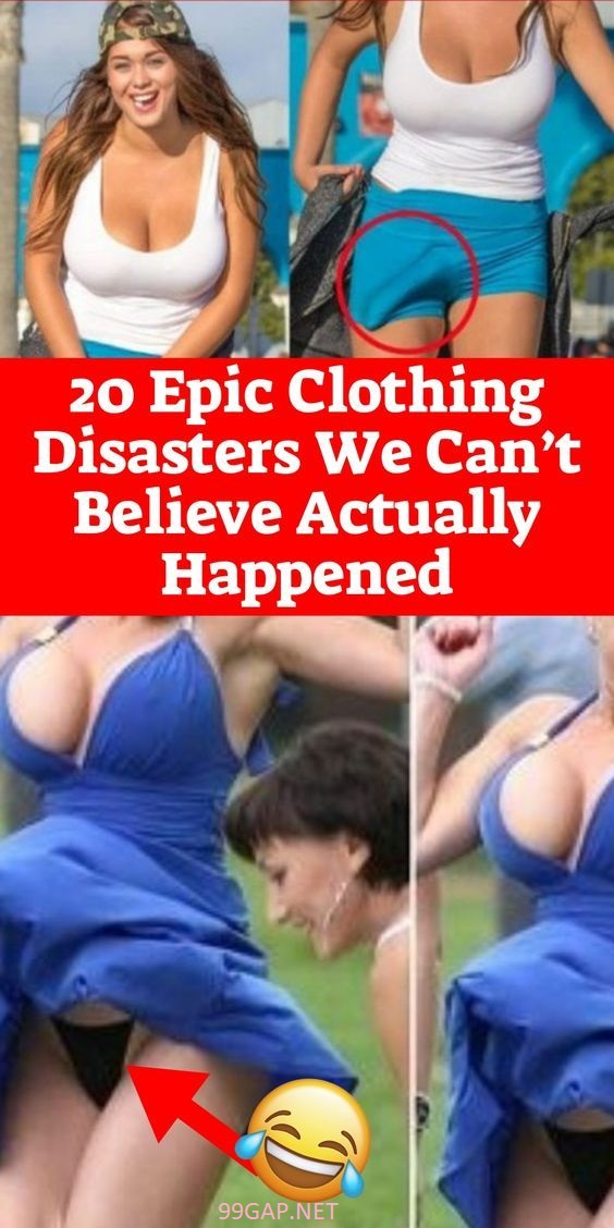 Funny Pictures Of Women Vs. Clothing Disasters