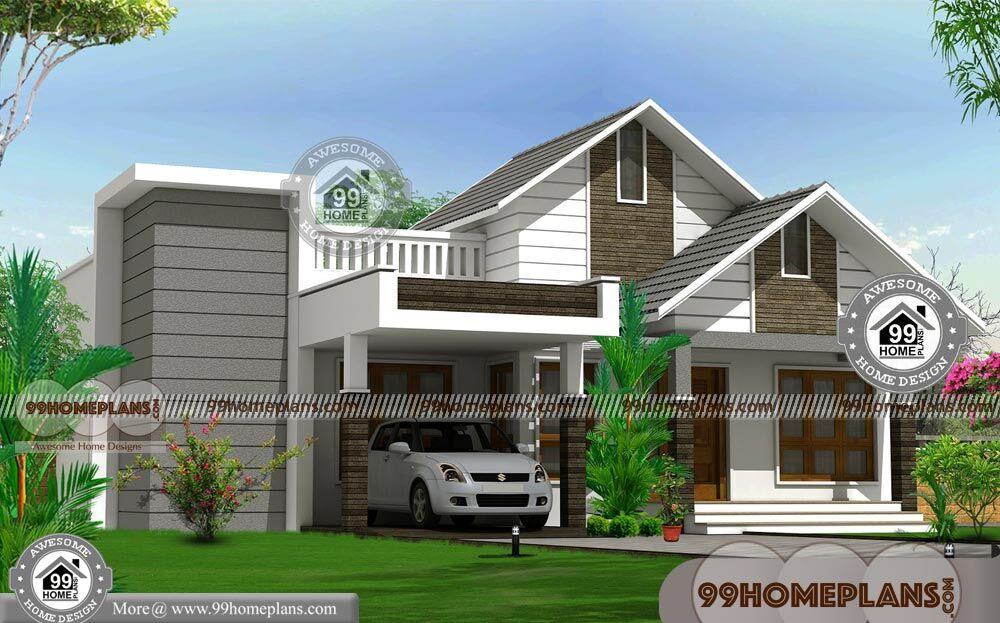 Non Traditional House Plans With Two Story 3 Bedroom Low Cost Designs