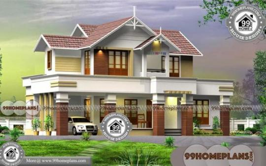 4 Bedroom 2 Story House Plans with Traditional Less Expensive Designs