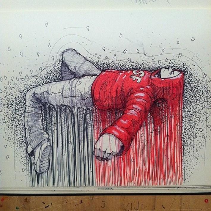 Amazing pencil art sketches 12