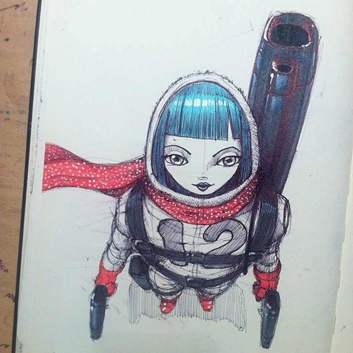 Amazing pencil art sketches 8