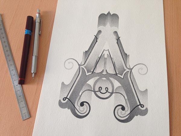 Best Stippling Typography designs