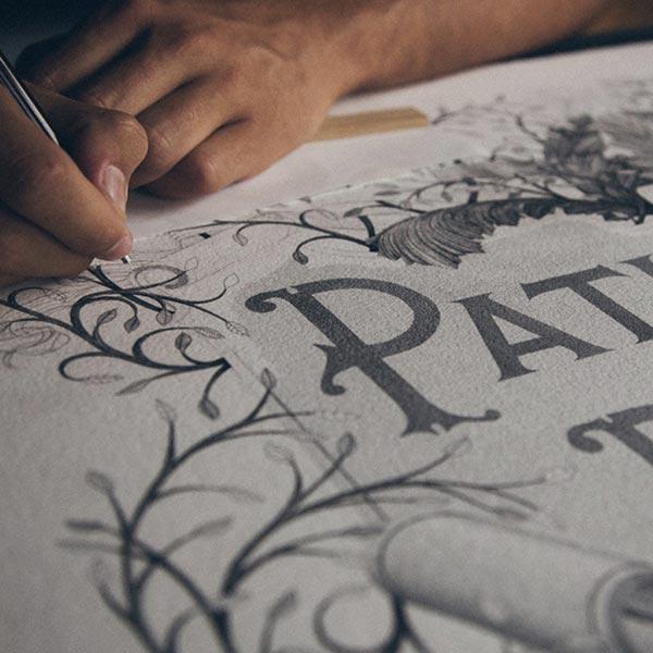 Incredible Stippling Art Typography