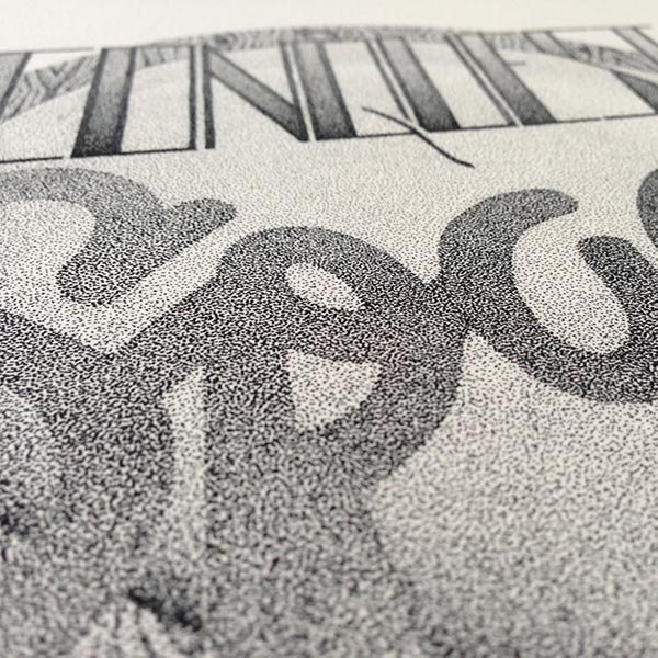 Incredible Stippling typography design