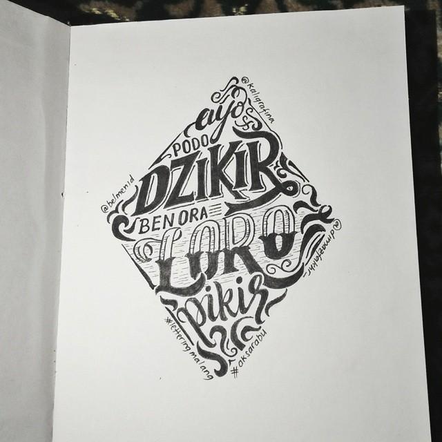 Creative hand lettering art style  - Dimaz Fakhruddin