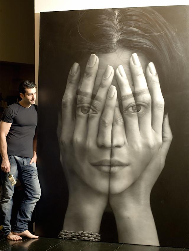 Double Exposure Paintings Armenia Tigran