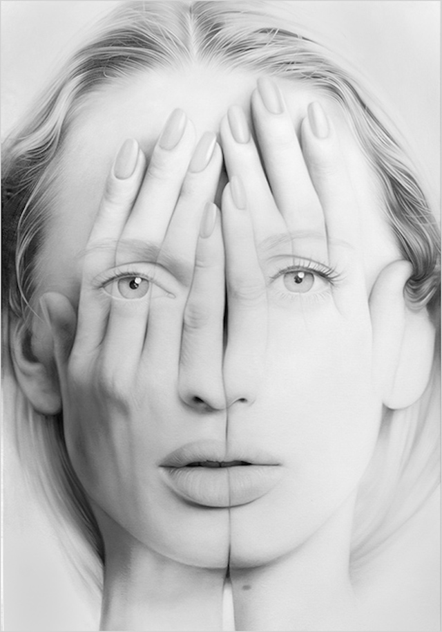 Realistic Double Exposure Drawing Art