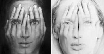 Realistic Double Exposure Paintings Art