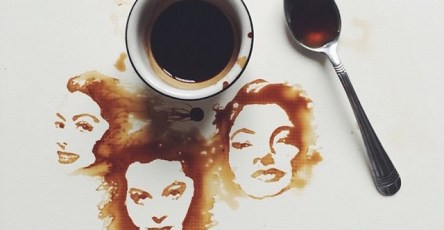 Unique Painting Art With Coffee by Giulia Bernardelli
