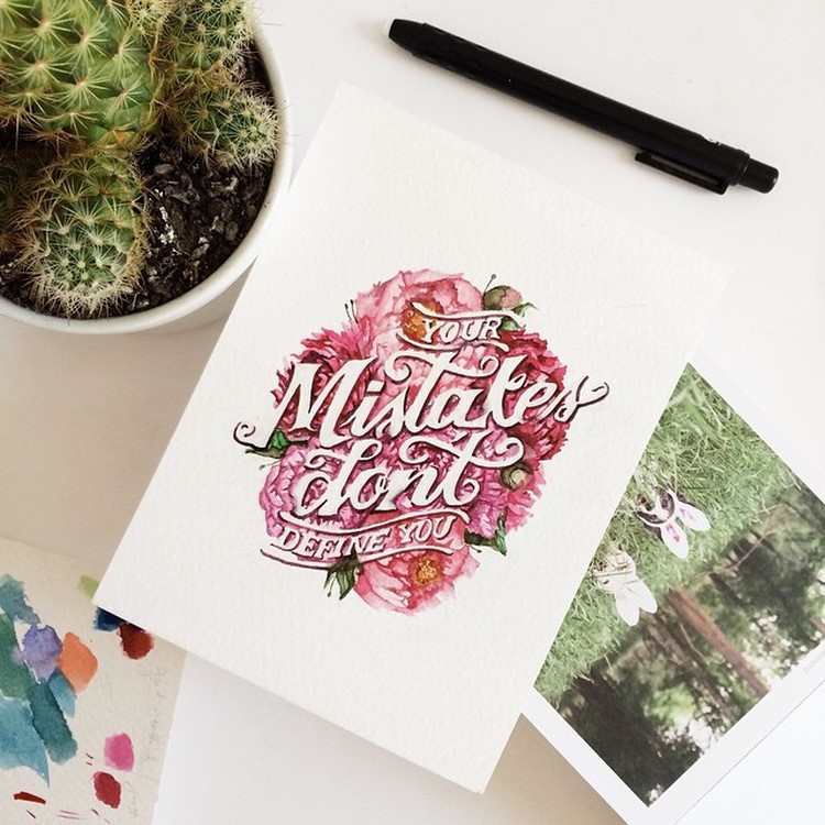 Beauty Watercolor Lettering Quotes by june Digan