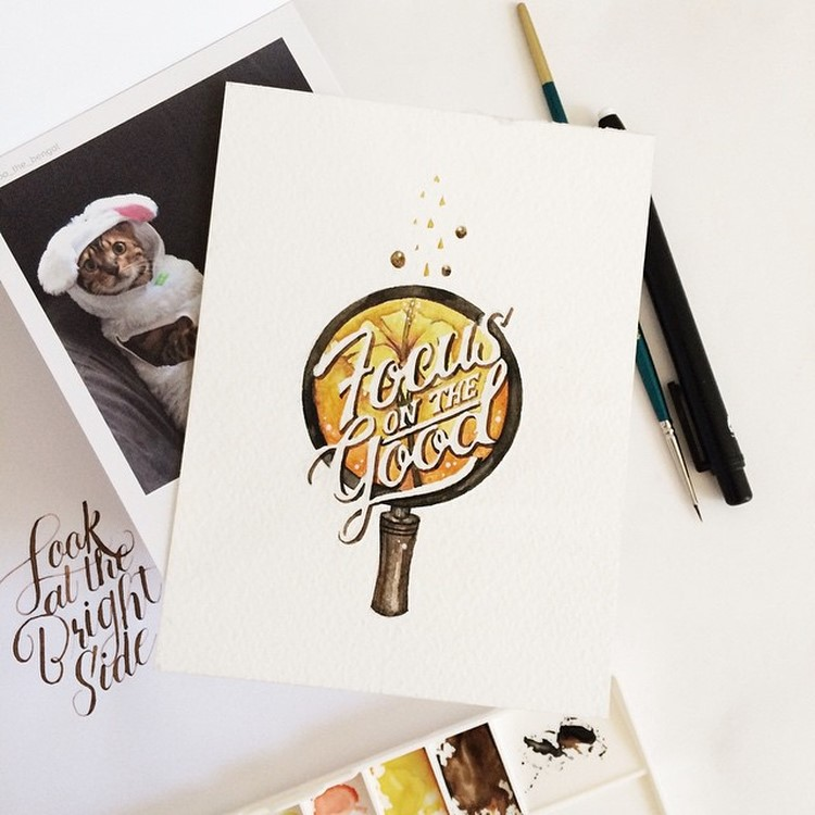 Creative Watercolor-Lettering-Quotes by june Digan