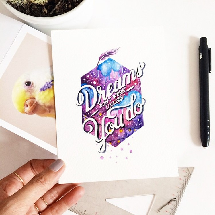 Creative hand Lettering Quotes by june Digan