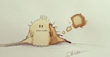 Random Monster Coffee Stains Drawings