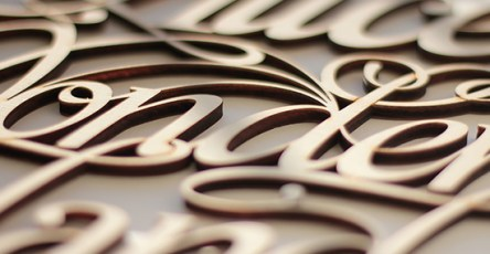 Unique Wood Lettering & Design by Future Marquetry