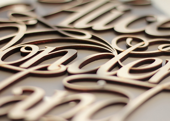 Fantastic Wood Lettering & Design by Future Marquetry