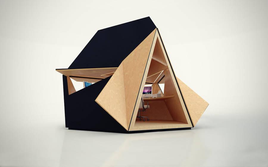 Unique Portable Wooden Office