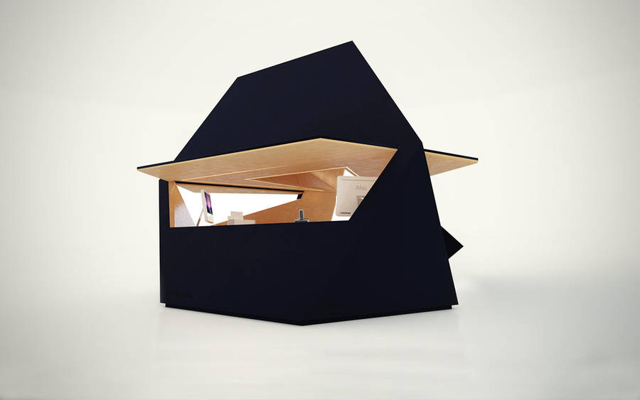 Unique Wooden  Portable Home Office