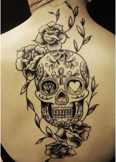 Back Sugar Skull Tattoo